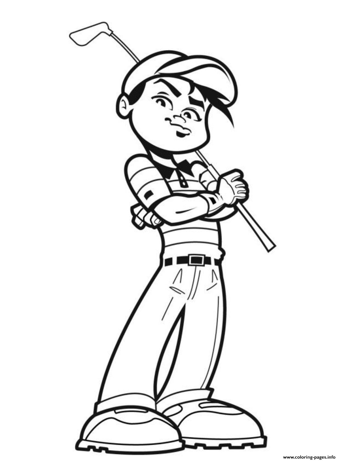 Golf Coloring Pages