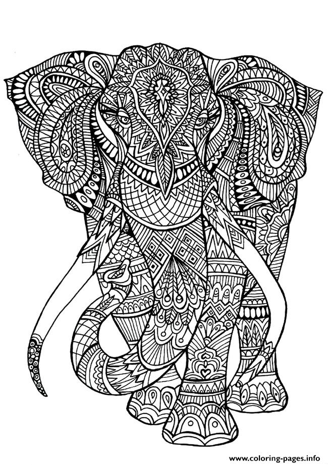 print adult coloring pages elephant coloring pages free printable