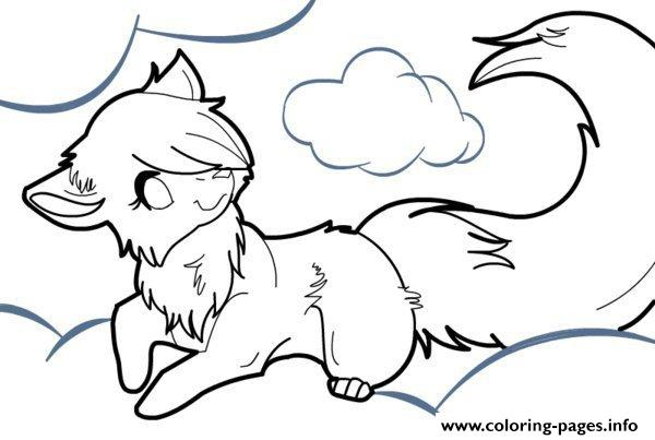 Anime Wolf Coloring Pages Printable