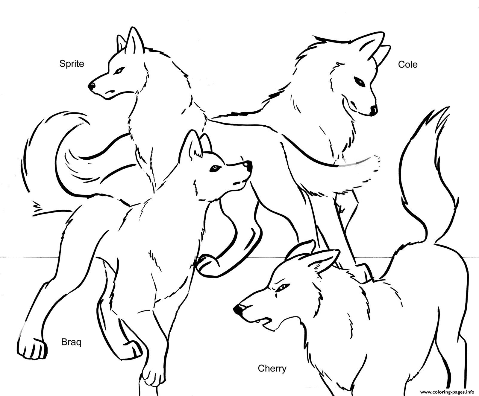 anime wolf coloring pages druntk