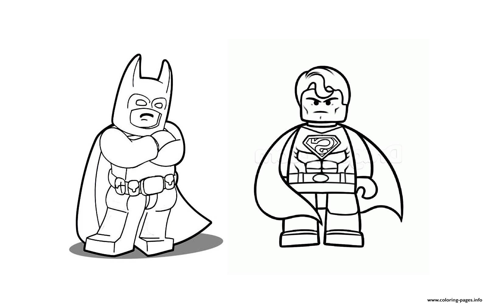 print batman vs superman lego 2016 coloring pages free printable