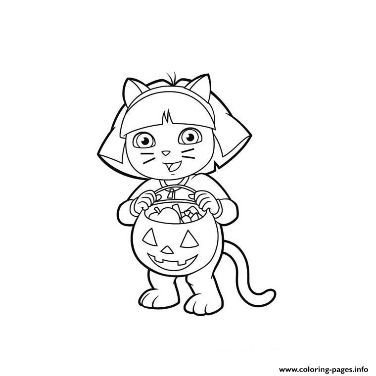 Dora The Explorer Halloween S For Kidsd836 Coloring Pages Printable