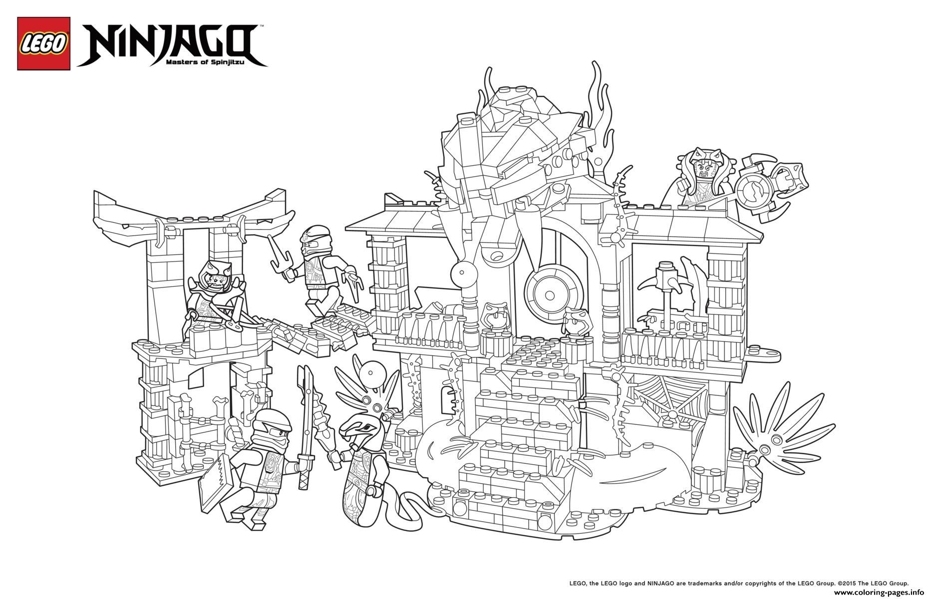 Ninjago Lego Palace Coloring Pages Printable