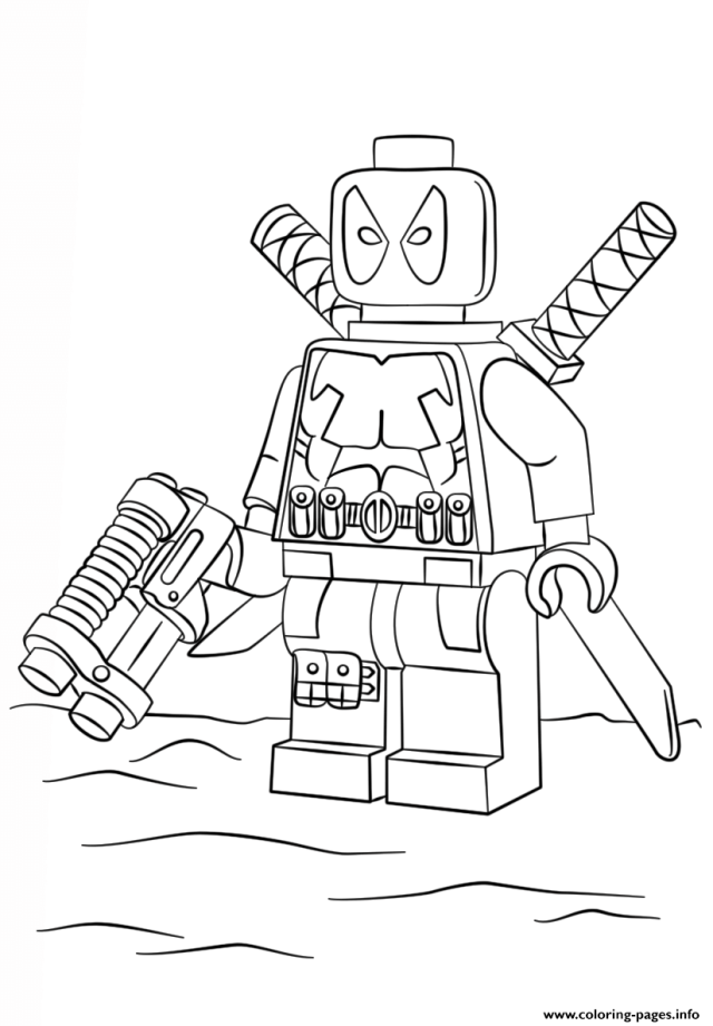 Printable lego christmas coloring pages