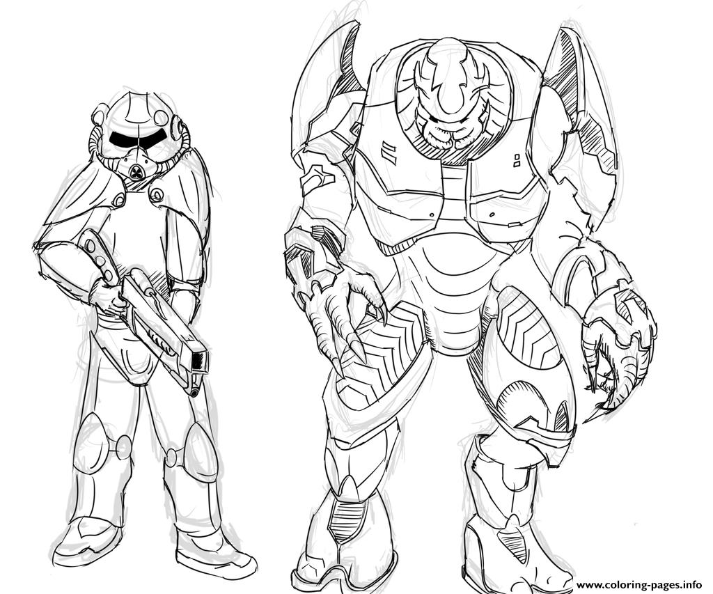 Brotherhood Of Steel And Elites From Halo By Zonalar