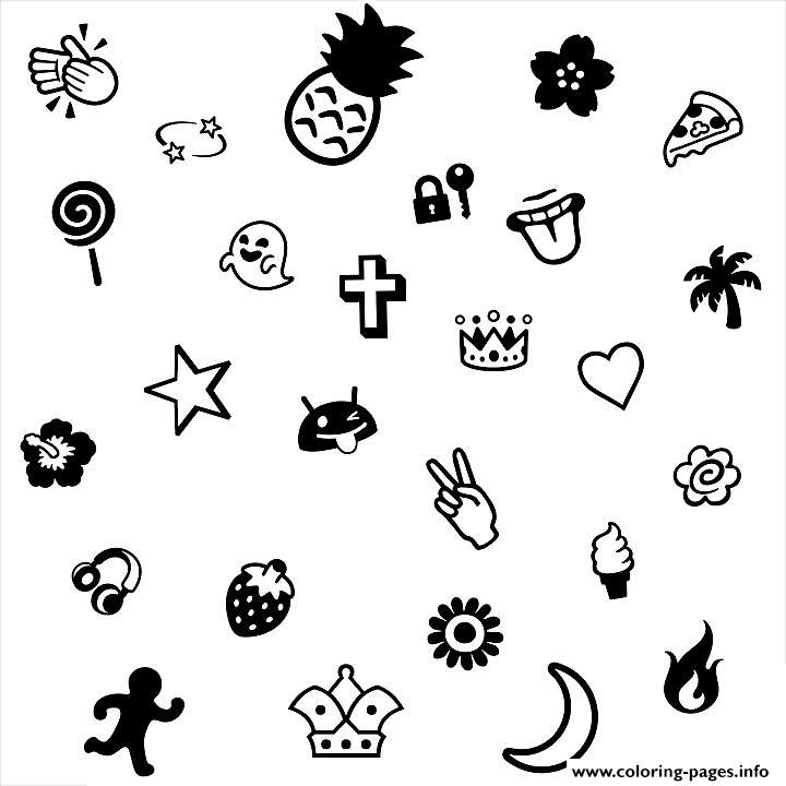 print emoji cool coloring pages free printable