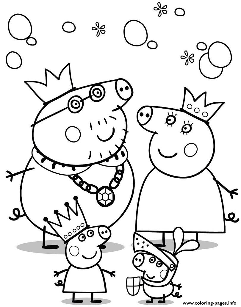 print cartoon peppa pig coloring free printable