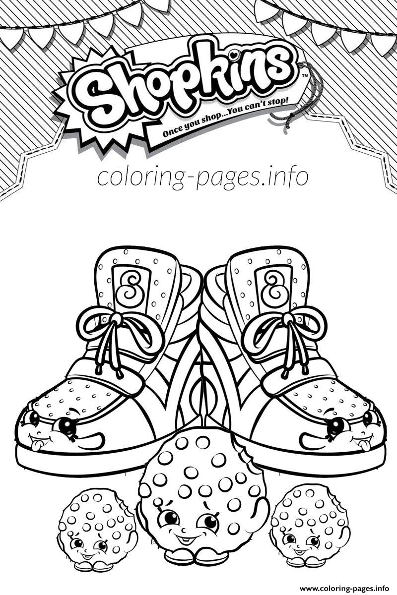 2 Shopkins 2016 Sneaky Kooky Cookie Coloring Pages Printable