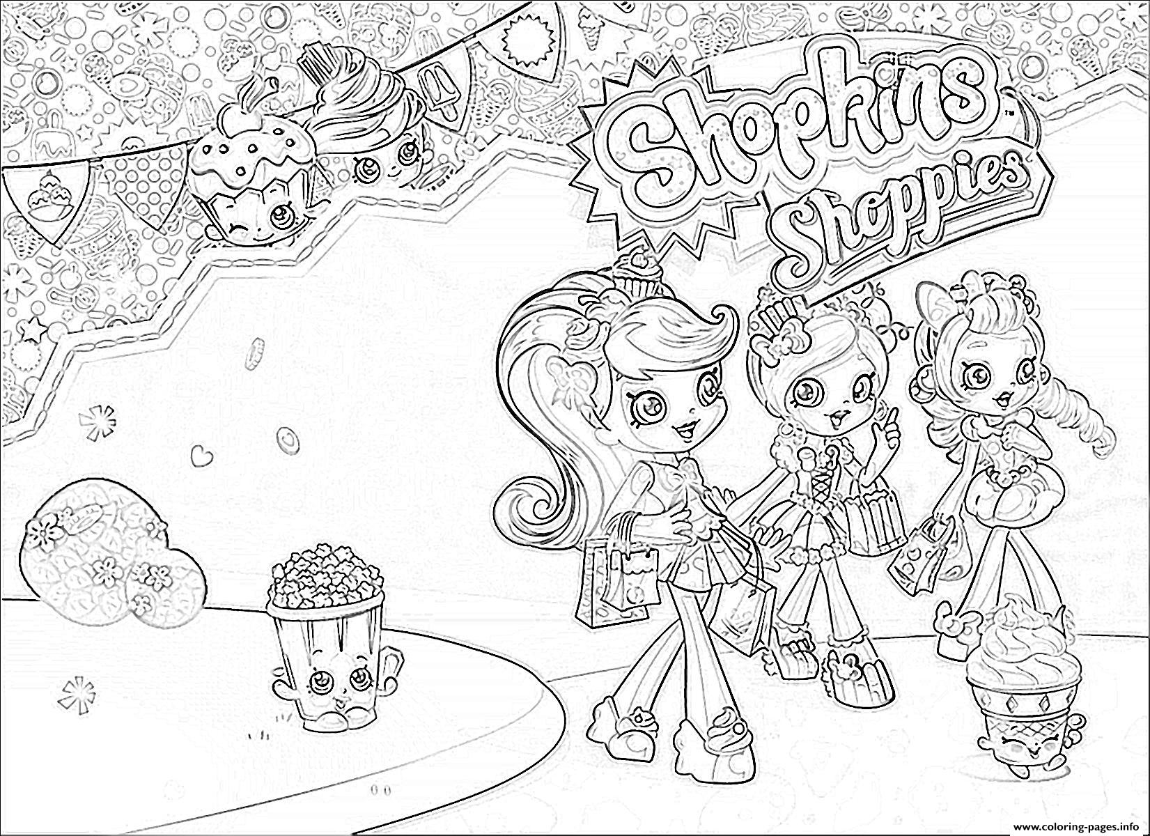 print shopkins shoppies girls coloring pages free printable