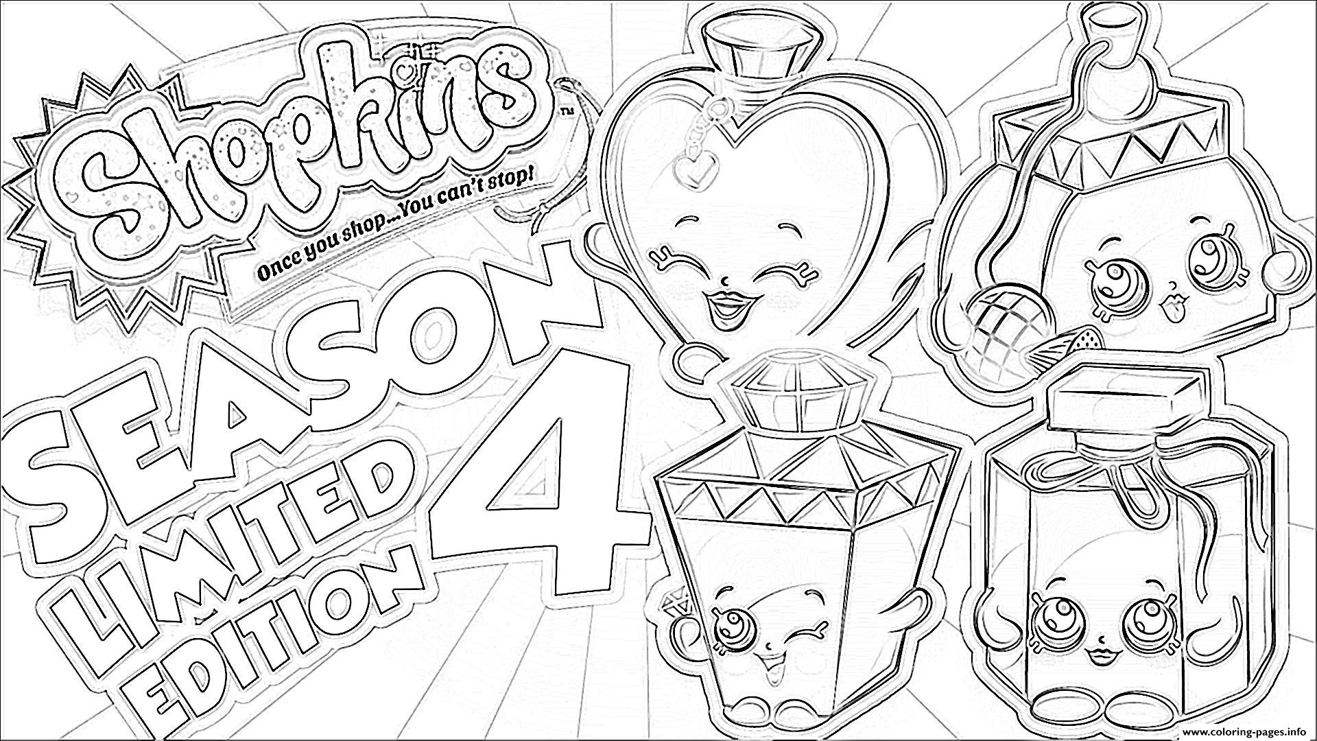Shopkins Season 4 Limited Edition Coloring Pages Printable