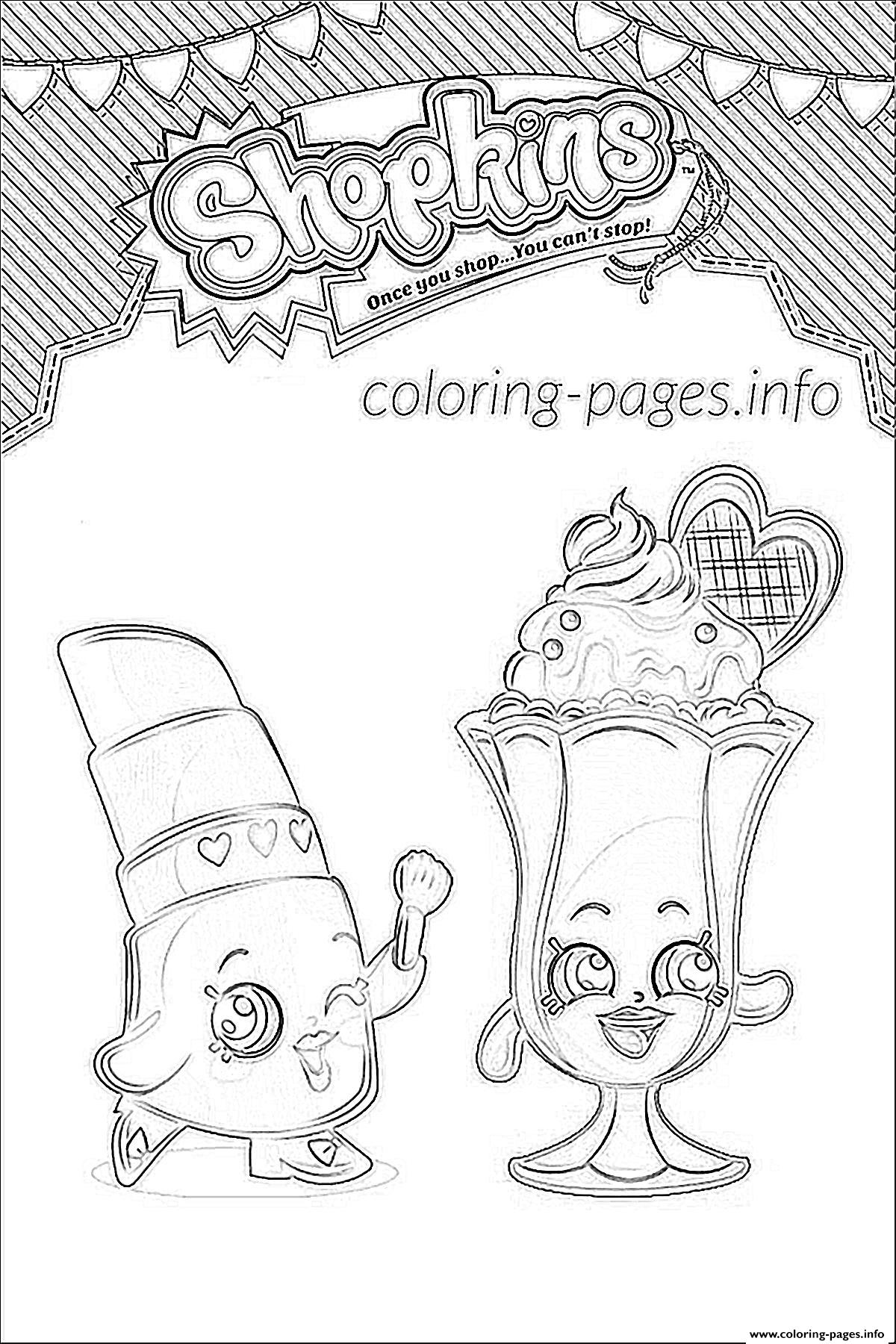 Shopkins Suzie Sundae Coloring Pages Printable