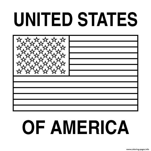 Free Printable American Flag Coloring Pages Printable