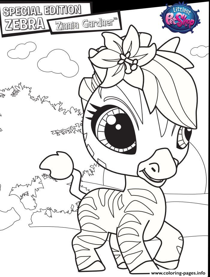 Special Edition Zebra Zinnia Gardner Coloring Pages Printable