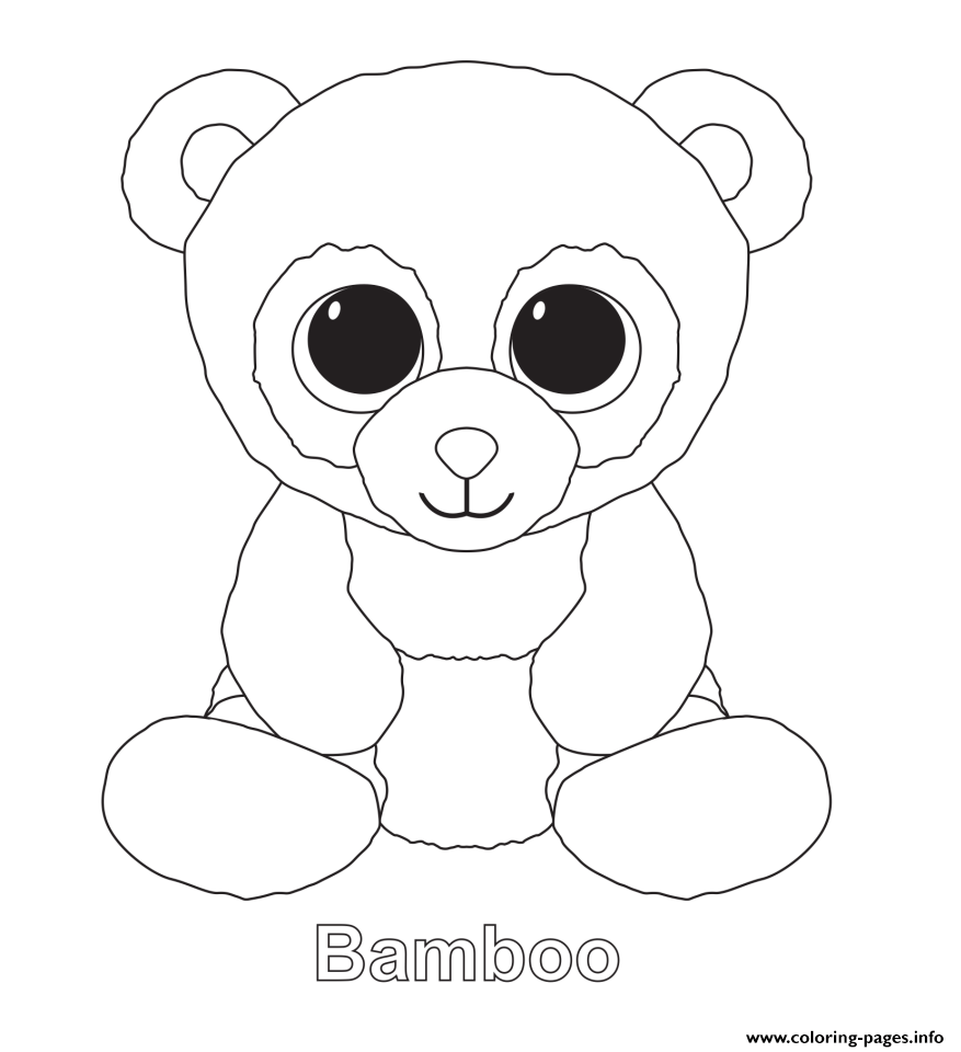 Beanie Boo S Free Colouring Pages
