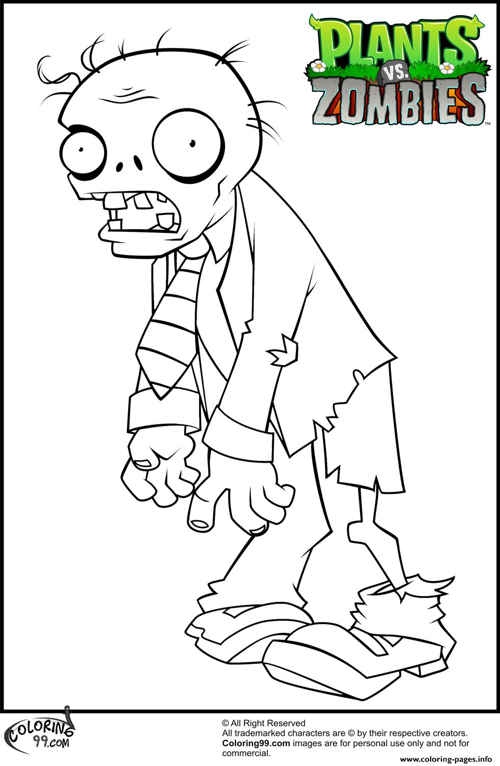 Suit Zombie Coloring Pages Plants Vs Zombies Coloring Pages Printable