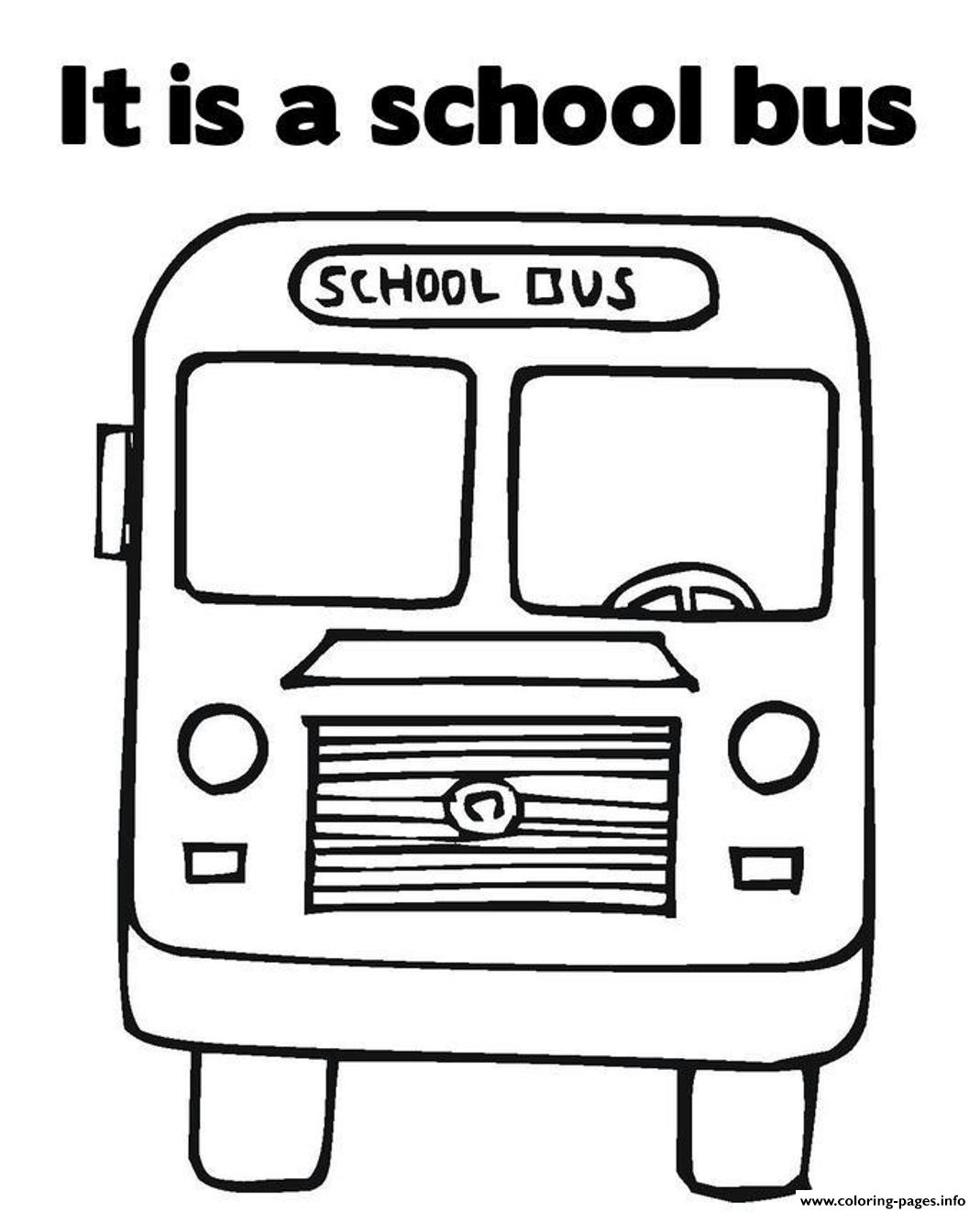Great Transportation School Bus Coloring Pages Printable