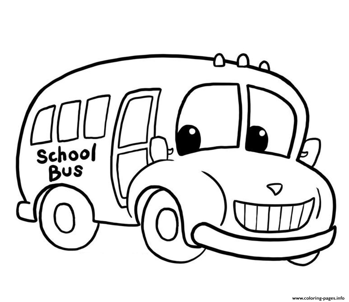 Kids School Bus Coloring Pages Printable