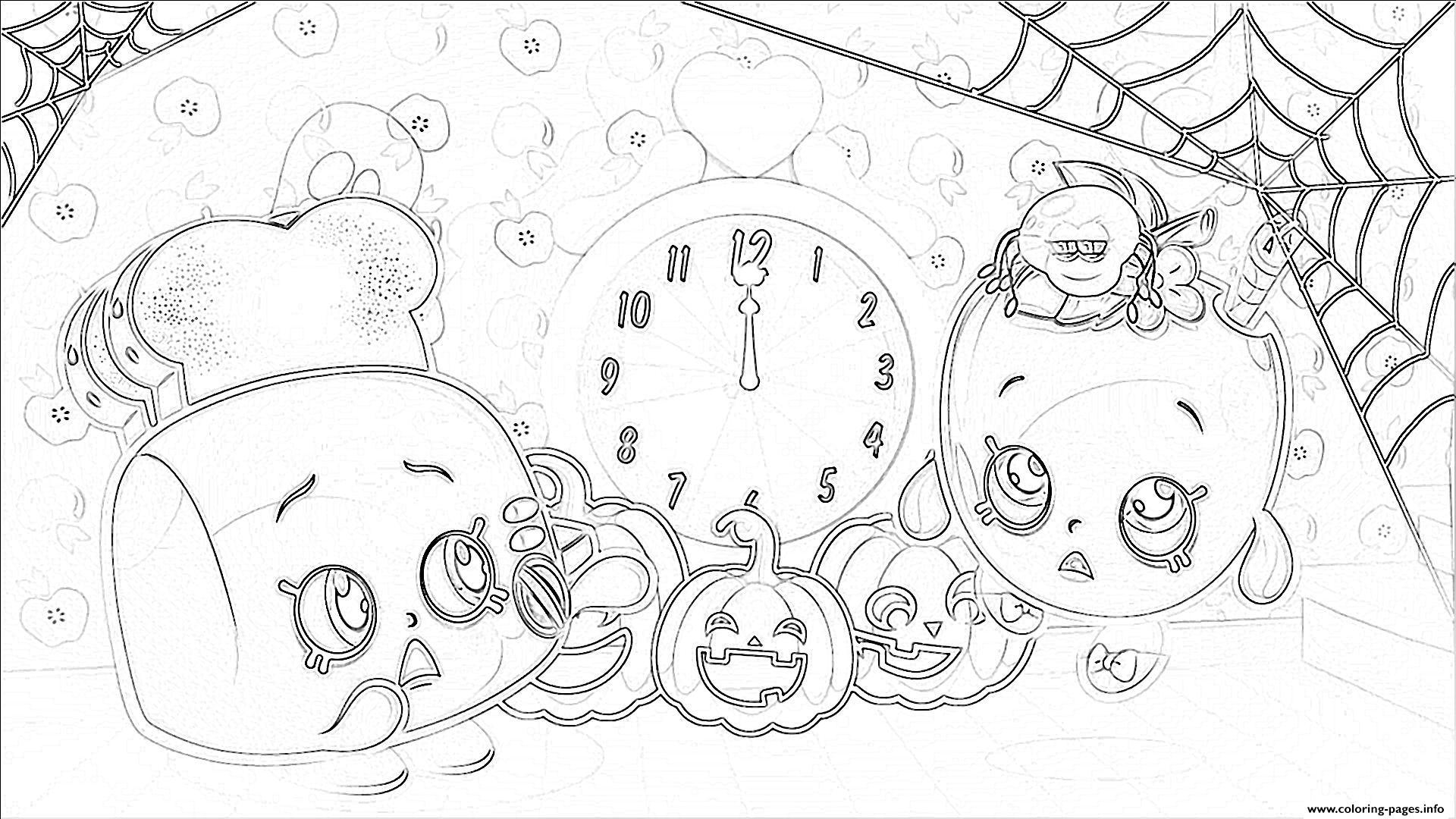 print shopkins halloween pumpkins coloring pages free printable