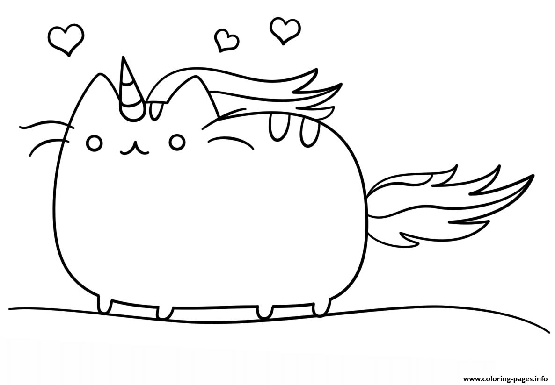 Kawaii Cat Coloring Pages Printable