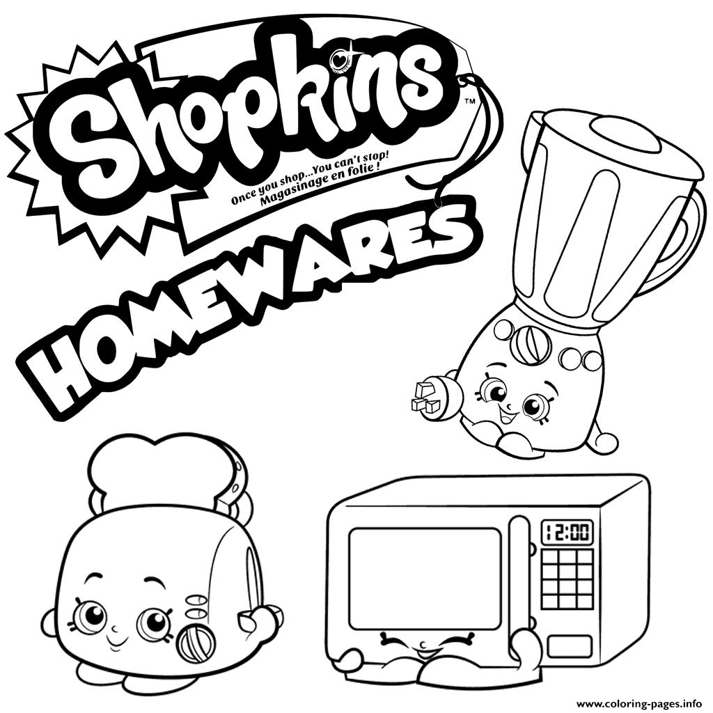 Homewares Collection Shopkins Season 2 Coloring Pages Printable