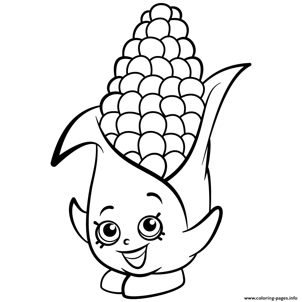 Baby Corn Coloring Pages