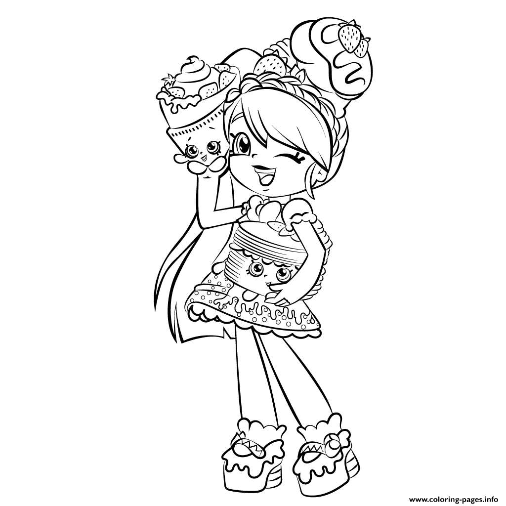 print cute girl shopkins shoppies coloring pages free printable