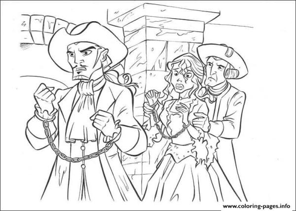 pirates of the caribbean coloring pages # 15