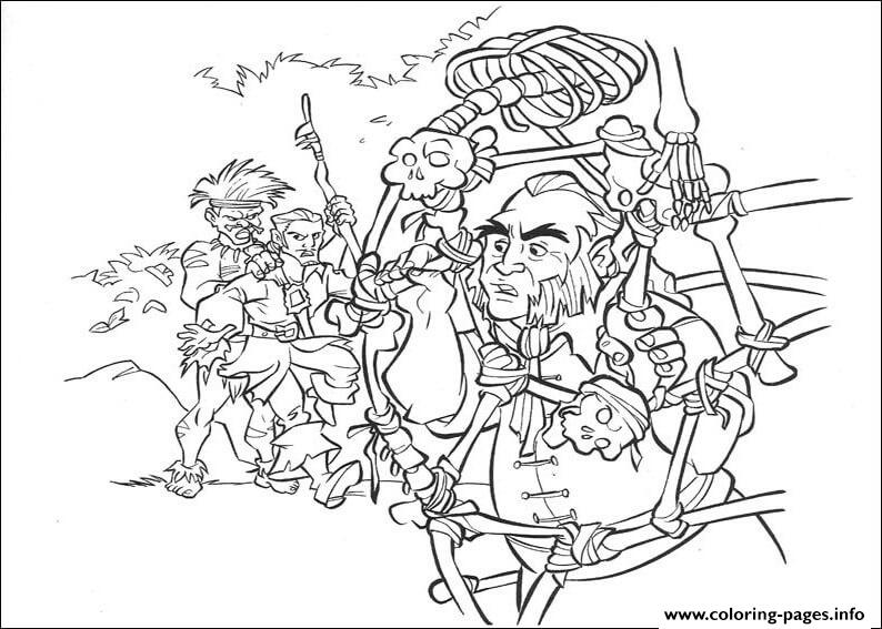 Pirates Coloring Caribbean 5 Pages