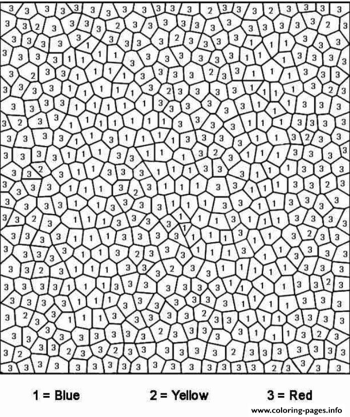 difficult color by number for adults coloring pages free printable