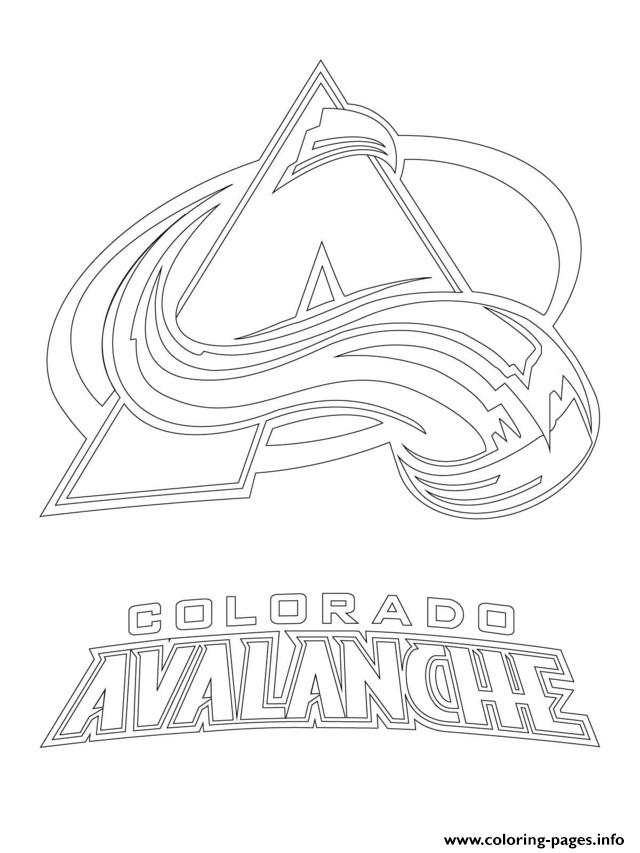 print colorado avalanche logo nhl hockey sport1 coloring pages