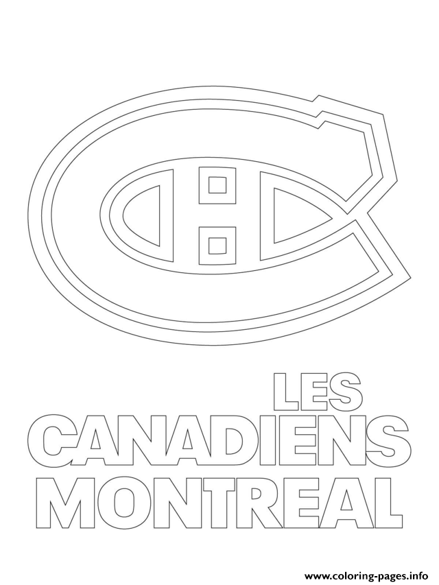 print montreal canadiens habs logo nhl hockey sport1 coloring