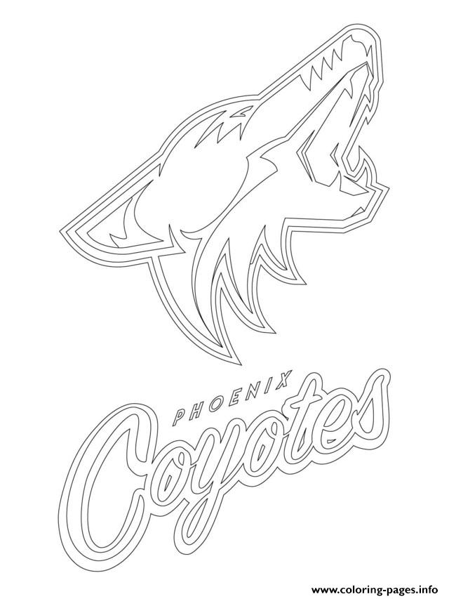 print phoenix coyotes logo nhl hockey sport coloring pages free