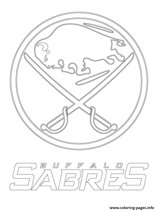 print buffalo sabres logo nhl hockey sport1 coloring pages free