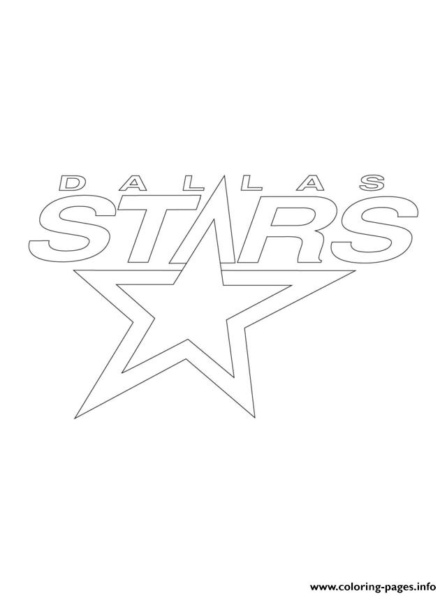 Dallas Stars Logo Nhl Hockey Sport Coloring Pages Printable