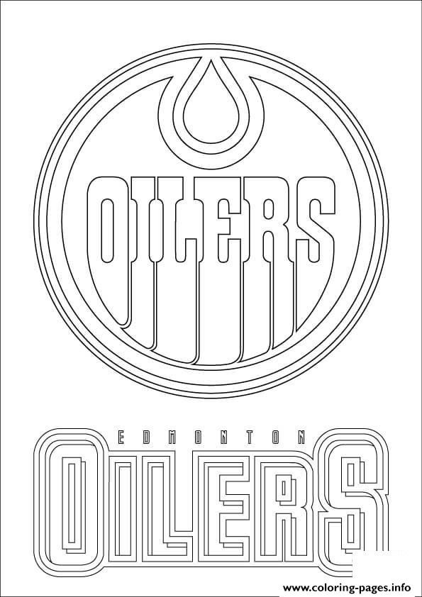 print edmonton oilers logo nhl hockey sport coloring pages free