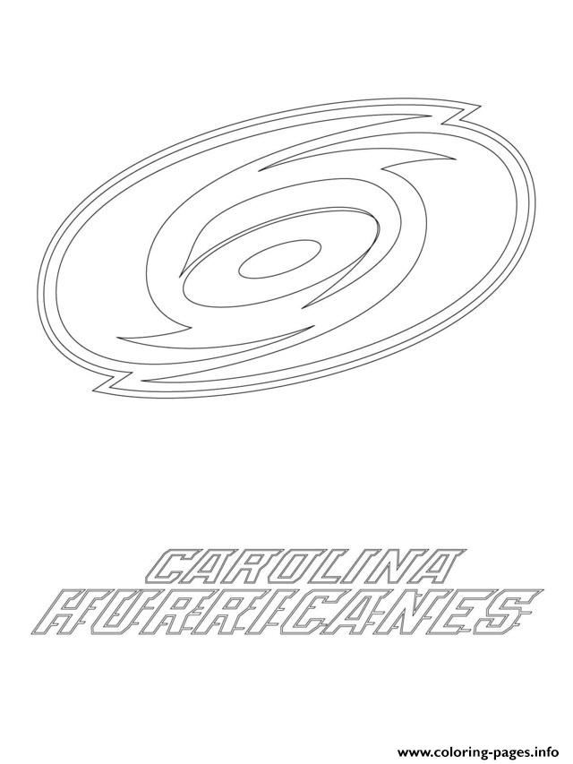 print carolina hurricanes logo nhl hockey sport coloring pages