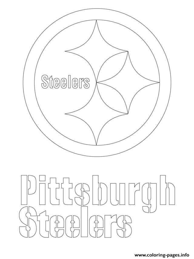 print pittsburgh steelers logo football sport coloring pages free