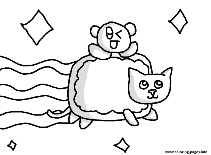 nyan cat  baby nyan cat coloring pages printable