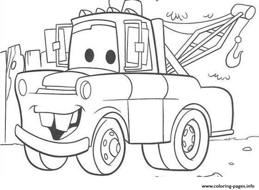 print disney cars mater coloring pages free printable