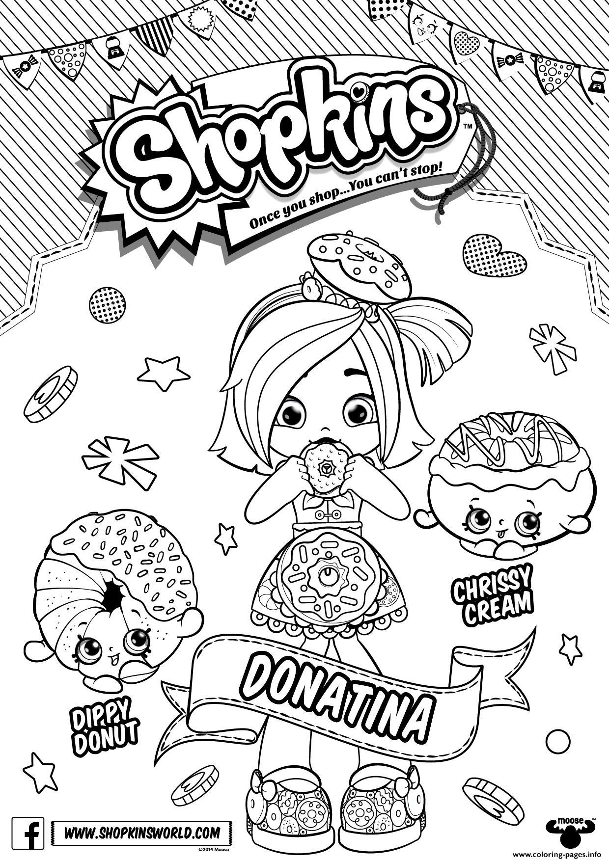 Shopkins Season 6 Doll Chef Club Donatina Coloring Pages Printable