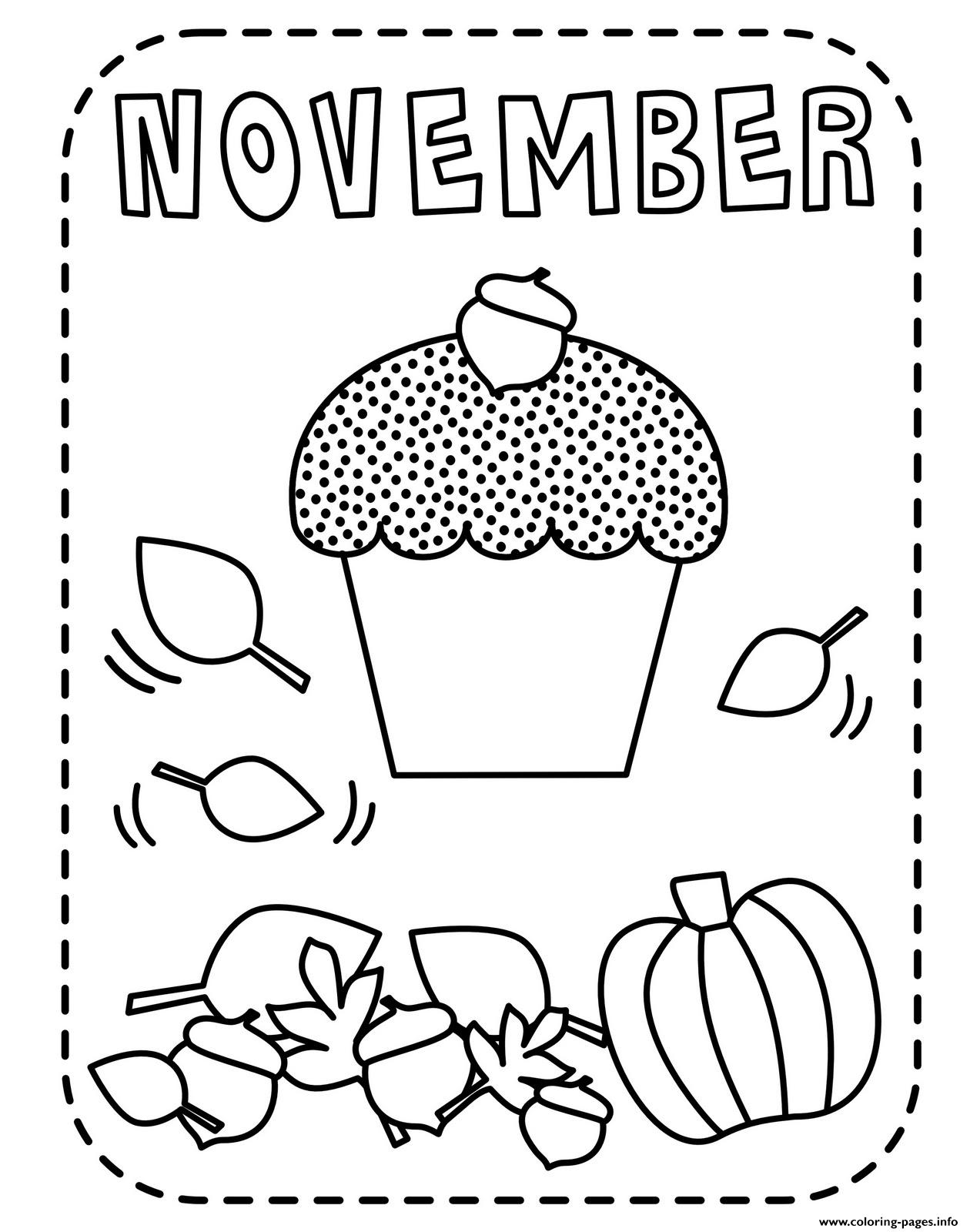 November For Kids Coloring Pages Printable