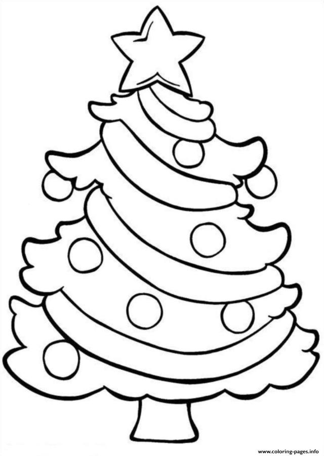 Christmas Tree Easy Coloring Pages Printable