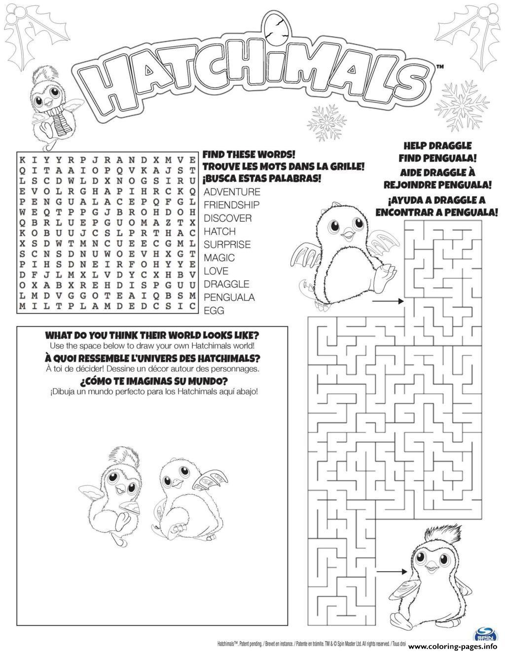 Hatchimals Hatch Game Coloring Pages Printable