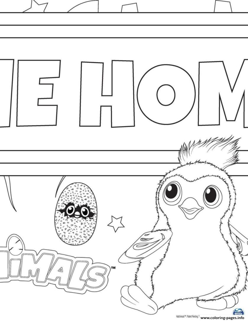 hatchy hatchimals draggles coloring pages printable