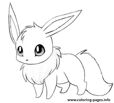 Cute Eevee Coloring Pages Printable