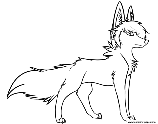 Stylish Wolf Coloring Pages Printable