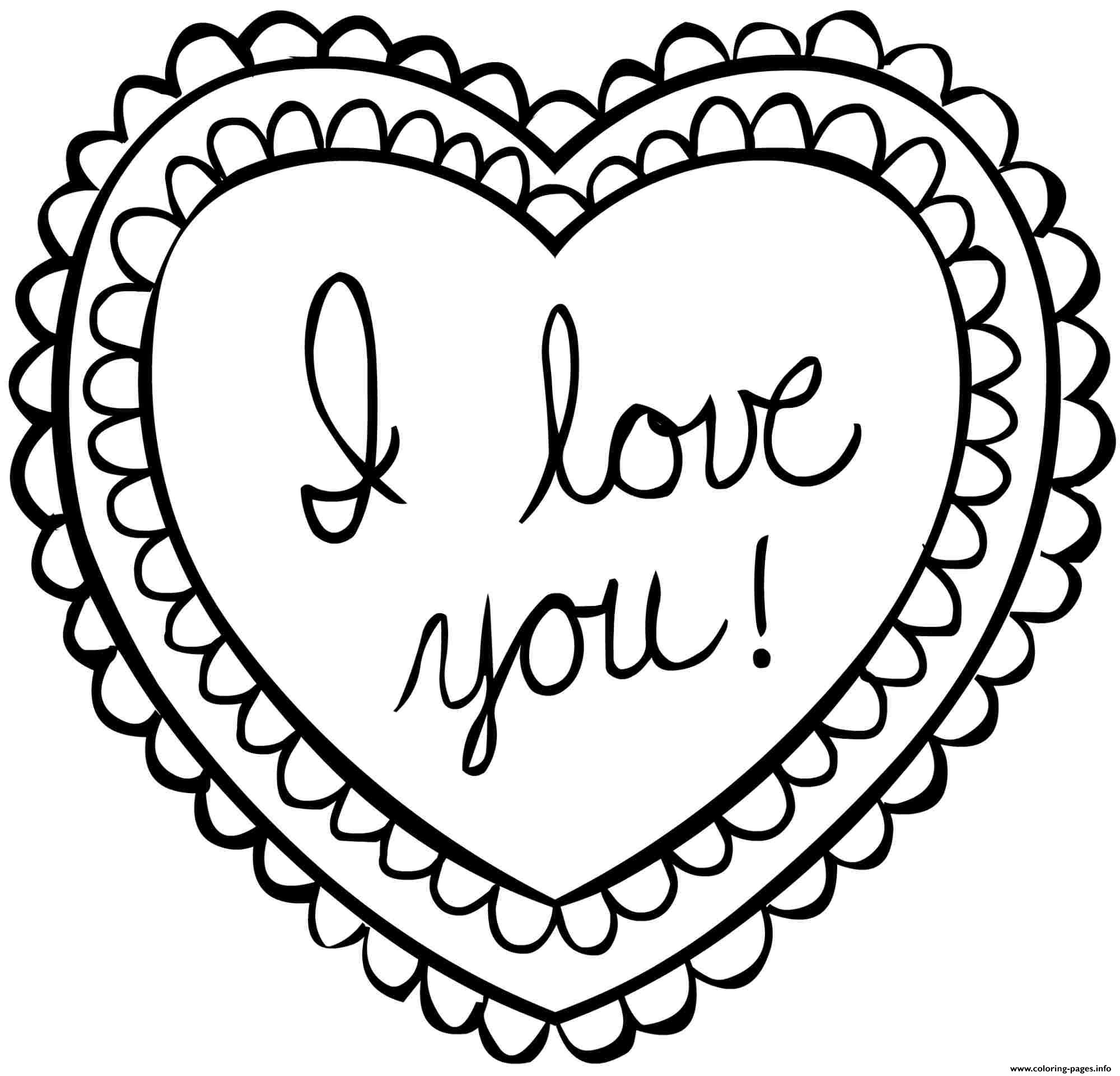 Valentine Card Valentines Day Coloring Pages Printable