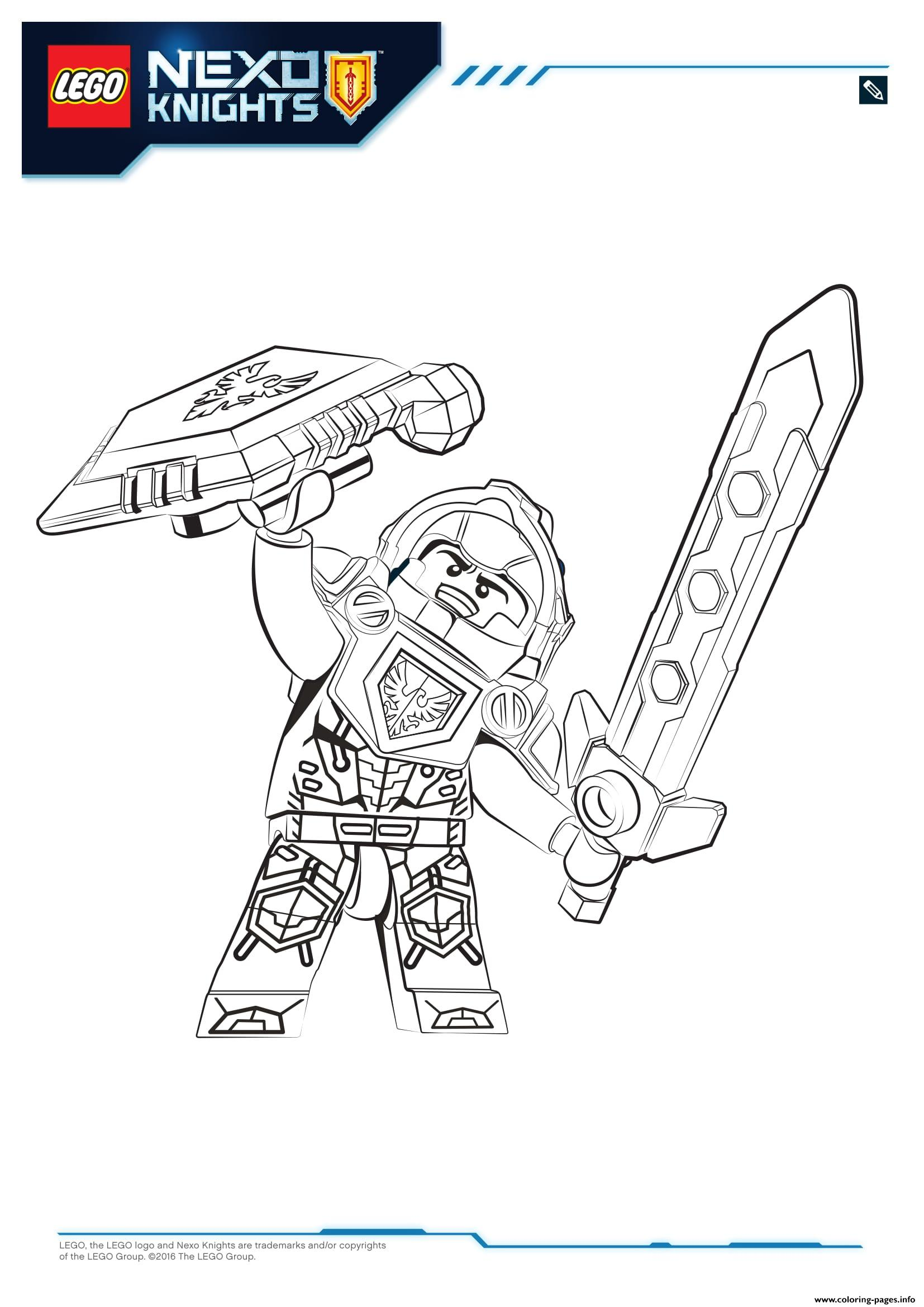 Lego Nexo Knights Clay 1 Coloring Pages Printable