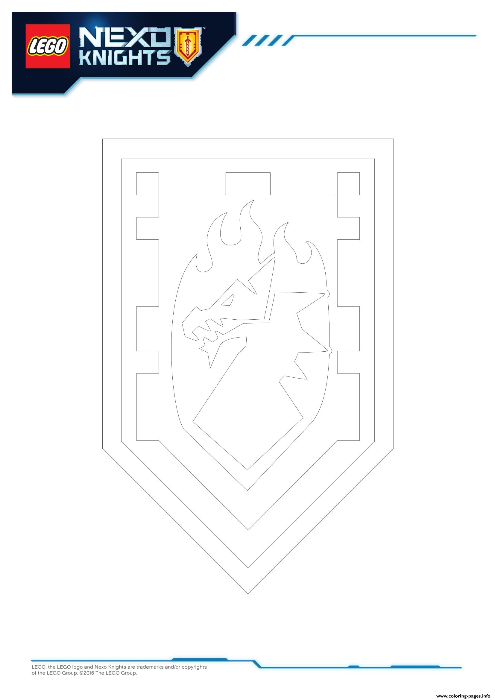 Lego Nexo Knights Shields 6 Coloring Pages Printable