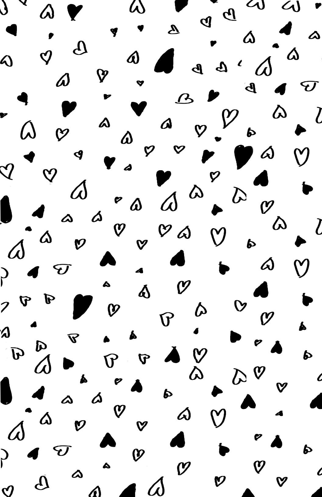 Printable Hearts Love Valentines Day Wrapping Paper Coloring Pages Printable